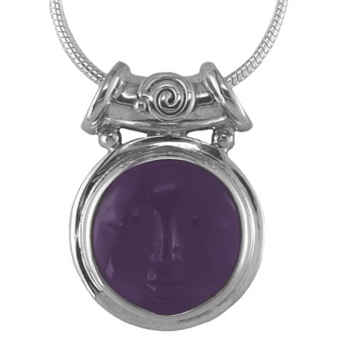Amethyst Goddess Pendant with Tube Bale