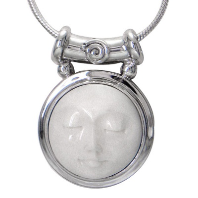 "Sterling Goddess Pendant with 18"" Chain"
